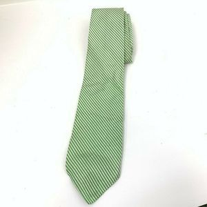 Brooks Brothers Seersucker Green Tie